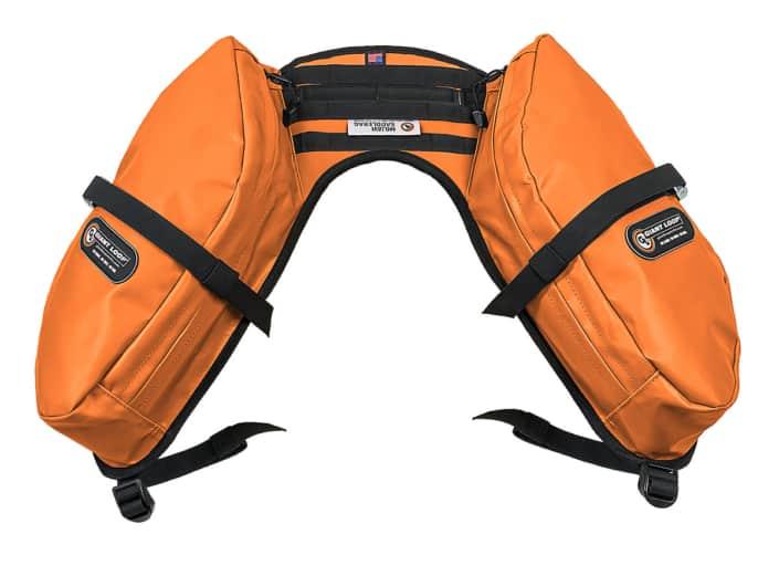Mojavi sadeltaske i orange